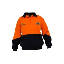 Wests Tigers NRL HI VIS Work Jumper: ORANGE NAVY Workwear Gift for Tradies
