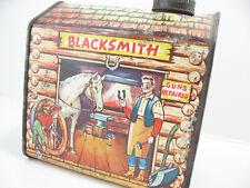 Rare 1950s Towle's Log Cabin Syrup Vintage Tin Can & Cap Blacksmith P-6963-D