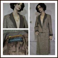 LOUIS FERAUD wool tweed SKIRT SUIT size 14 vintage made in WEST GERMANY