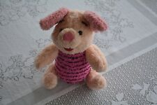 Disney Winnie the Pooh Mattel 1998 Vintage Classic Piglet Plush Jointed Doll Toy