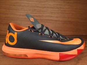 Nike KD VI 6 Anthracite Kevin Durant 599424-007 Black Total Orange Size 11.5