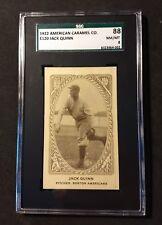 1922 American Caramel Co. E120 Jack Quinn SGC 88 NM MINT 8 Highest ever Graded