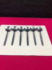 6 x Vintage Viners Chelsea Set Of Six Steel Soup Spoons 188 mm