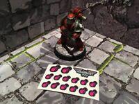 Slaanesh Choas Warhammer 40k Shoulder Stickers shadow spear Emperors children