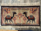 """22"""" by 12"""" Camel Oriental Wool Rug Purchased in Iraq"""