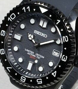 NEW Stealth SKX Style Mod Watch, Crown@3, Sapphire Crystal, Ceramic Bezel, NH35A