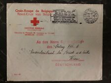 1941 Bruxelles Belgium Red Cross To Vienna Germany POW Camp Cover Stalag 18A