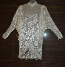 vintage 70s Does  20s GATSBY  Victorian   LACE  FLAPPER  party batwing  DRESS os