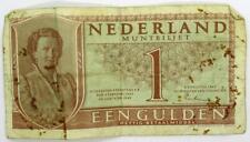 1949 Netherlands One Gulden Banknote