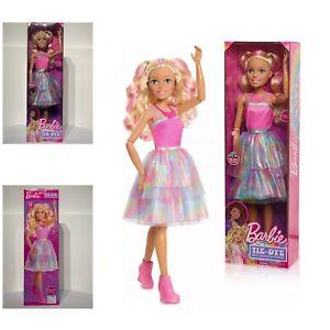 """Barbie 28"""" Best Fashion Friend - Tie Dye Blonde 2.3 Foot tall"""