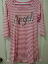 VICTORIA'S SECRET Pink White Angel Sleepshirt Nightgown S
