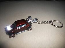 1960's VOLKSWAGEN VW BEETLE BUG HOT ROD DIECAST MODEL TOY CAR KEYCHAIN MAROON