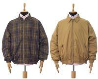 Mens BARBOUR Harrington Jacket Reversible Tartan Checked Beige Size 2XL