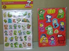 Snoopy & Peanuts Gang Epoxy Stickers 35 count & 12 Count Magnets New