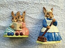 Royal Doulton Bunnykins figurines, purchased in London, two figurine set.