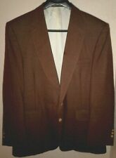 Stafford Mens Size 46 R Blazer Jacket Sport Coat Brown Wool Blend 2 Gold Button