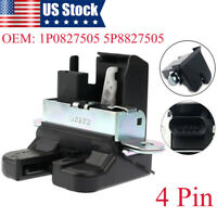 Black Rear Trunk Control Latch Lock Fit For VW Beetle Golf MK7 Only e-Golf 4-pin