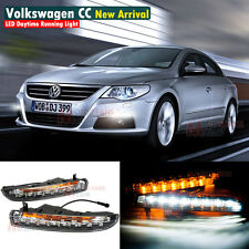 LED Daytime Running Light DRL Kit For VW Passat CC 2009 ~ 2013 Turn Signal