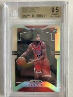 Coby White 2019-20 Panini Silver Prizm Refractor #253 Bulls RC Rookie BGS 9.5