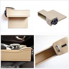 Beige Catcher Box Caddy Car Seat Gap Slit Coin Pocket Storage Organizer Holder