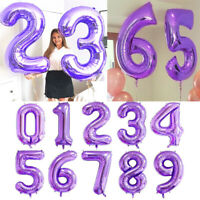 40 inch Number Foil Balloons Digit Helium Ballons Wedding Birthday Party Decor Z
