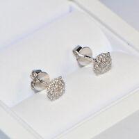 Diamant Ohrstecker 0,42 ct in 750er Weissgold (18K) Ohrringe rund Brillant pavé