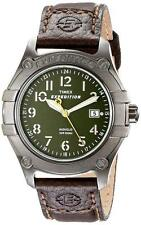 New Timex Expedition Trail Series Brown Leather Indiglo Date Watch 40mm T49804