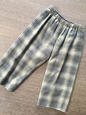 Bonpoint Green Plaid Cotton Boys Pants Size 2