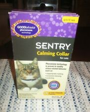 """SENTRY """"NEW"""" CALMING COLLAR FOR CATS up to 15"""" neck"""