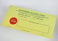 Bel età Coca-Cola Coke coupon-USA 1961-one free case of Coca-Cola