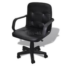 Sedia ufficio in pelle nera design esclusivo 59 x 51 x 81-89 cm Le 5 ruote L9W0
