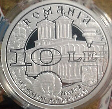 ROMANIA 10 LEI 2014 St Christian Martyrs Brancoveanu PROOF silver coin 250 made
