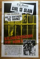Recommendation for Mercy (1975) 1 Sheet Movie Poster 27x41 Grindhouse