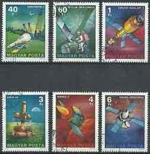 Timbres Cosmos Hongrie 2576/81 o lot 20335