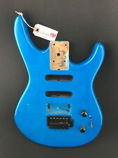 #5964 1980s Washburn G-JR-V/BL Series Electric Guitar Blue OEM Project Body DIY