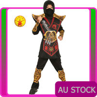 Kids Battle Ninja Costume Japanese Fighter Warrior Martial Boys Child Book Week