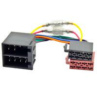 Radio Adapter Kabel für AUDI VW SEAT SKODA OPEL ISO DIN Stecker Autoradio