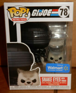 Funko POP Snake Eyes With Timber 78- G.I. JOE  Exclusive NEW FREE DBL BOX SHIP
