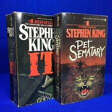 IT, Pet Sematary Stephen King Signet Paperback First Printing 1987 Lot