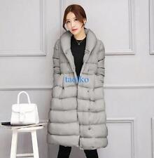 Chic Women's Winter Padded Parka Cotton Puffer Coat Jacket Long A-Line Outerwear