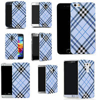 Motif case cover for All popular Mobile Phones - blue oblique