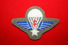 WWII FREE FRENCH GROUPE COMMANDO DE FRANCE BADGE PARACHUTE WING BREVET