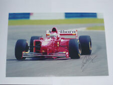 Eddie Irvine  Signed  A4  Photo