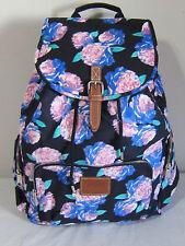 VICTORIA SECRET PINK Blue Floral FULL TRAVEL CARRYON WEEKENDER BACKPACK BOOK BAG