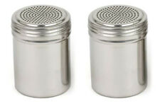 Tablecraft Stainless Steel BBQ Barbecue Rub Shaker - 2 pack