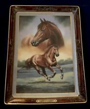 Franklin Mint Thoroughbred Portrait Of A Champion Horse Plate Numbered Coa