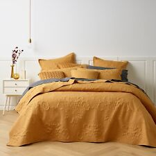 Bianca Gatwick Gold Bedspread Set | Beautiful Intricate Embroidered Detail