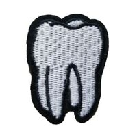 Tooth - Iron On Patch Sew on Embroidered New