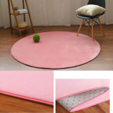Round Cute Mat Kids Harmless Blanket Carpet Rug Pink