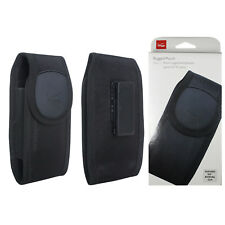 """Verizon Black Rugged Slim Pouch Case Cover with Belt Clip for Phones up to 5.5"""""""